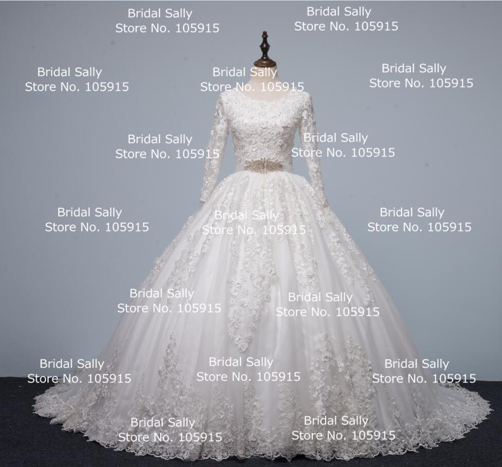 Aliexpress.com : Buy 2017 Real Sample 3/4 Sleeve Ball Gown Wedding ...