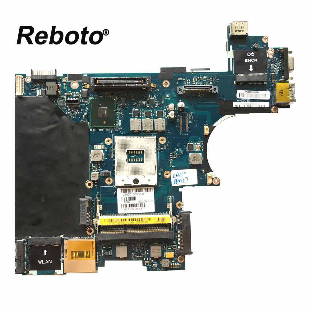 Reboto High quality Laptop Motherboard For DELL E6410 LA-5471P 0VK336 VK336 QM57 DDR3 Mainboard 100% Tested Fast Ship