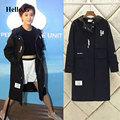 Winter Fashion Star Black Hooded Windbreaker Women Cardigan Long Coats Female Autumn Trench Coat For Women Basic Coat Plus Size