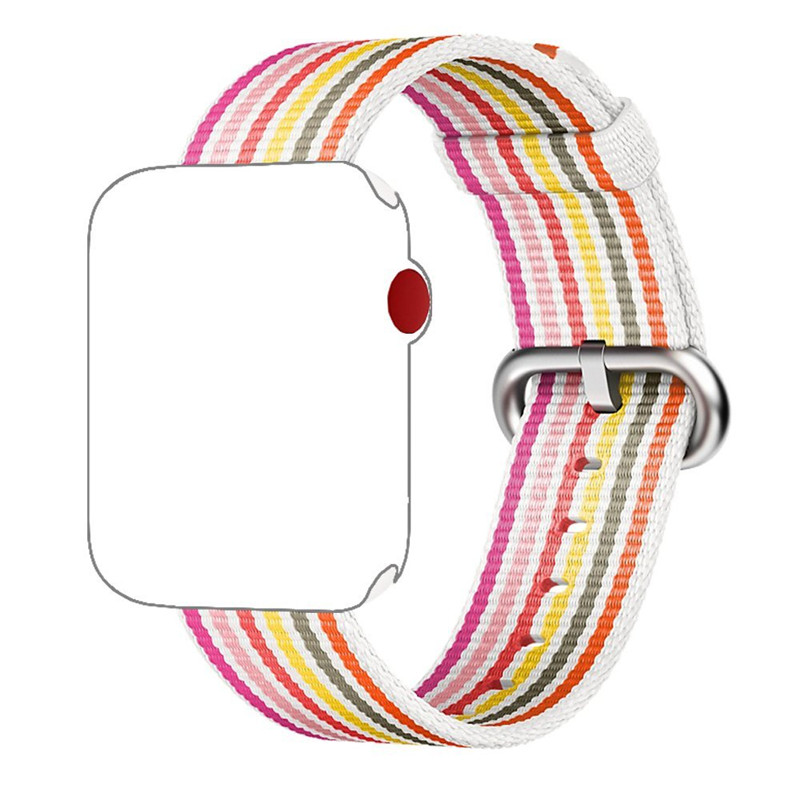 ASHEI Fine Woven Nylon Strap for Apple Watch Band Replacement Stripe Wrist for Apple iWatch Series 3 2 1 38mm 42mm Watchbands ashei watch replacement band for apple watch series 3 2 1 vintage genuine leather watchbands for iwatch strap sport and edition