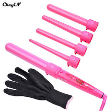 09-32mm Pro Series 5 in 1 Curling Wand 5pcs Hair Roller Tong Curling Iron Electric Hair Curlers Rollers Gift Set for Women Girl