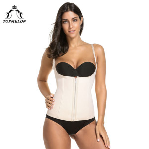 Image 4 - TOPMELON Shapewear Waist Trainer Belly Slimming Sheath Modeling Strap Body Shaper Belt Neoprene Underbust Zipper Corset 6XL