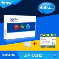 Fenvi Dual band Wi-fi 450 Mbps Wlan para Intel 6300 633 6235ANHMW Wireless-N 802.11a/g/n Mini PCI-e Card Para Acer Asus Dell Toshiba