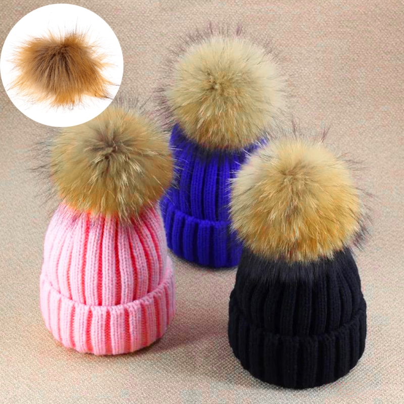 2017 Fashion New Faux Raccoon Fake Fur Hair Ball Fluffy Pompom Hat Clothing Bag Shoses Accessory Soft Solid Hat Accessories
