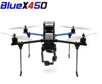1set Blue X450 Quadcopter Drone Rack Frame kits DIY Aluminium Tube Racks For FPV RC Qaudcopter Accessories F450 Upgarded