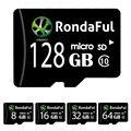 Rondaful Micro SD Card 32GB Class 10 8GB-128GB Class10 UHS-1 32GB/128GB C10 Memory Card Flash Memory Microsd for Smartphone new