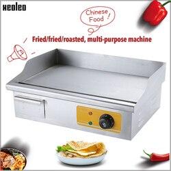 XEOLEO płaski talerz patelnia Teppanyaki patelnia elektryczna grill komercyjna stal nierdzewna grillowana kałamarnica/stek maszyna 3000W
