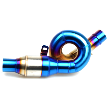 Motorcycle Middle Exhaust Pipe Stainless Steel motor Exhaust middle pipe System blue For kawasaki Z800 Z 800 2013 2014 2015 2016