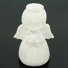 Cute Angel Design Colorful Changing LED Lamp Xmas Decor Night Light Kids Gift #L057# new hot