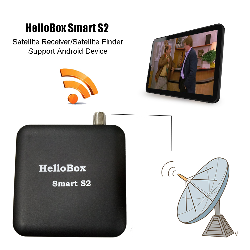 Hellobox Smart DVB S2 Satellite Finder Satellite Receiver TV Play On Mobile Phone Tablet TV Receiver