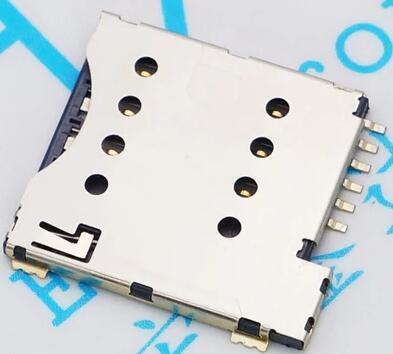 10 cái/lốc khe cắm thẻ SIM Micro SIM 6 P-Pin thẻ Nhớ Chủ/adapter/kết nối sử dụng cho điện thoại, tự đẩy