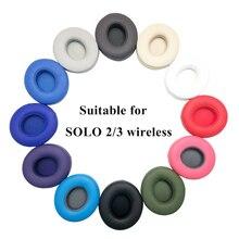 Oreillettes de remplacement coussin pour Solo 2 oreillettes sans fil écouteurs pour Beats Solo 3 étui pour casque sans fil peau protéinée ultra douce