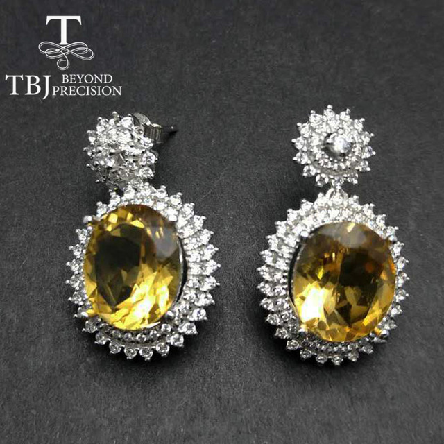 Tbj Party Queen High Quality Luxury Brazil Citrine Earring For