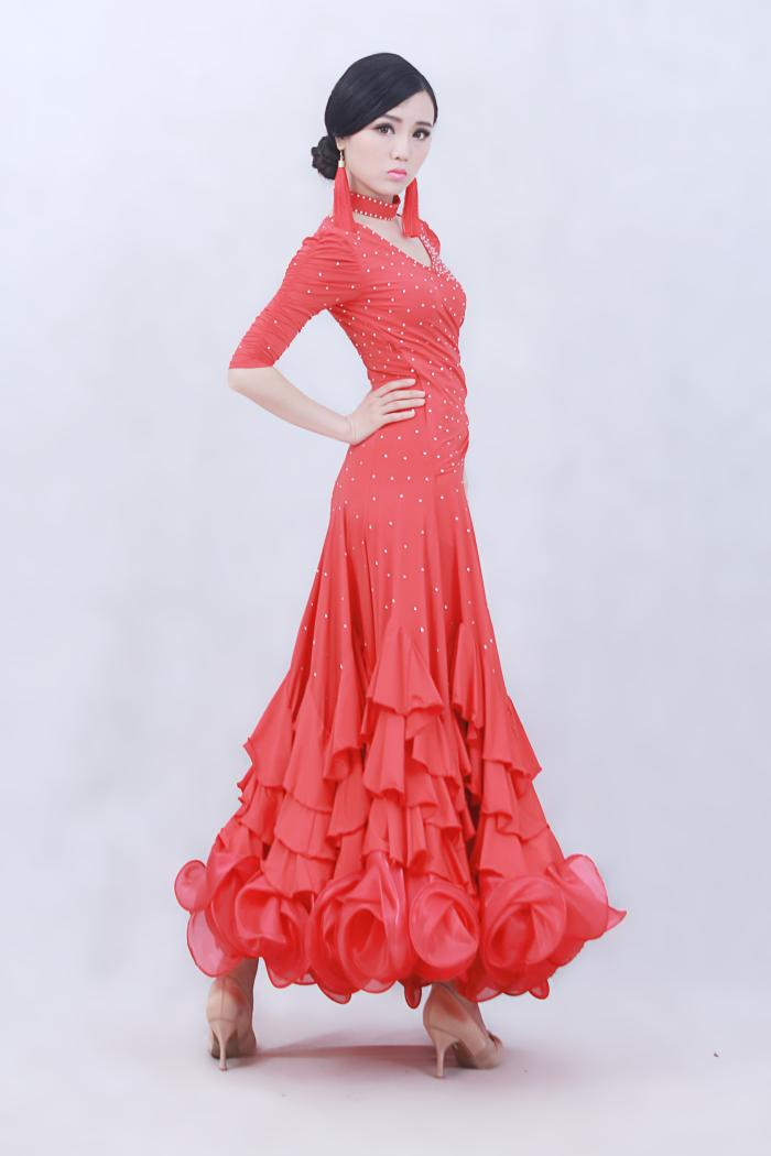 f83dfaa4c 4 colours woman high end big swing standard Ballroom Dance Costume ...