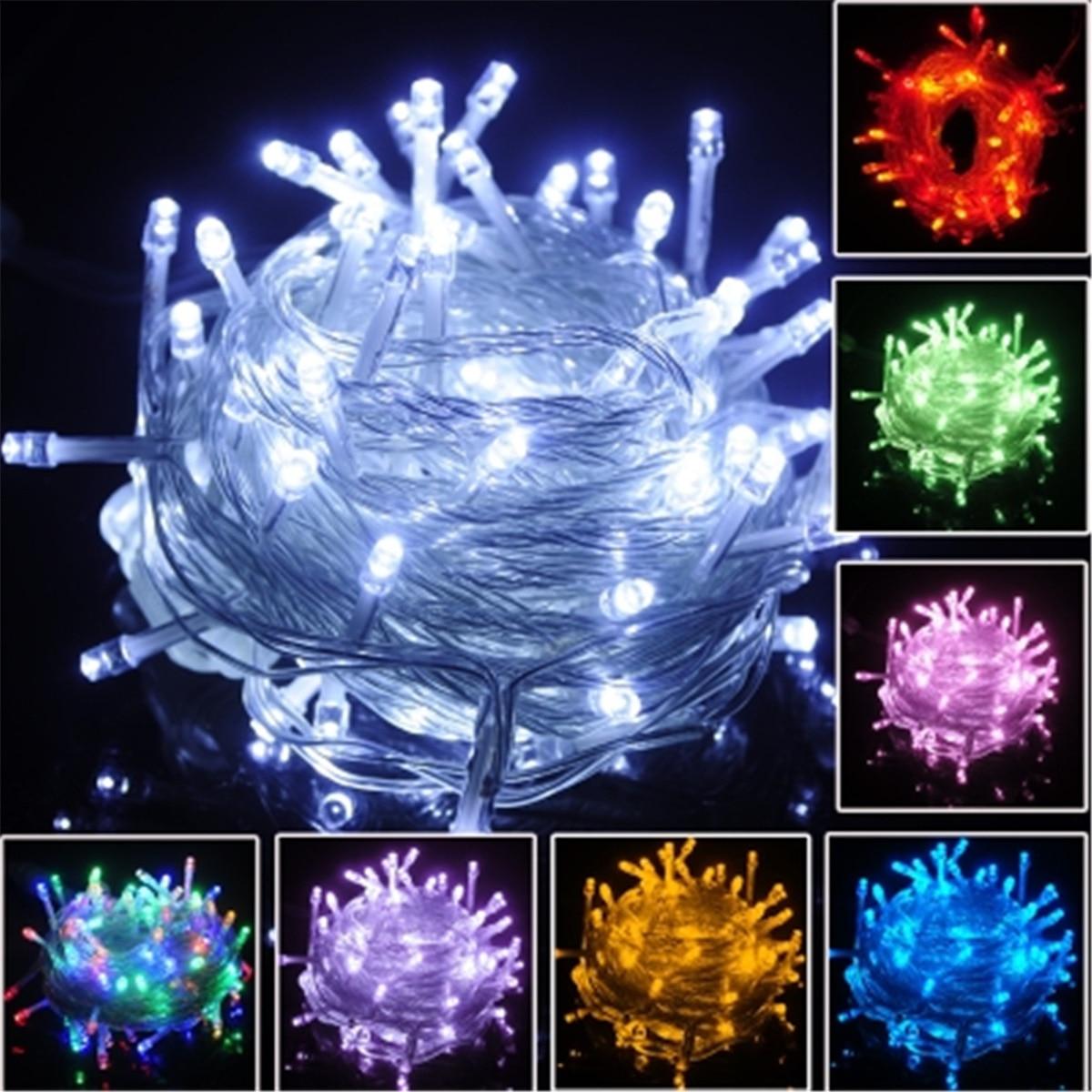 10 mt 220 v LED Licht Strap Lampe Weiß Wasserdicht Für Home Garten Weihnachten Dekoration Zubehör Decor Weihnachten Baum Ornament