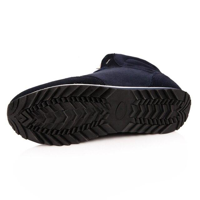 REETENE Cheapest Winter Boots Men Fashion Fur Flock Winter Shoes Men Leather Winter Ankle Boots Men Warm Casual Men Boots 37-48 2
