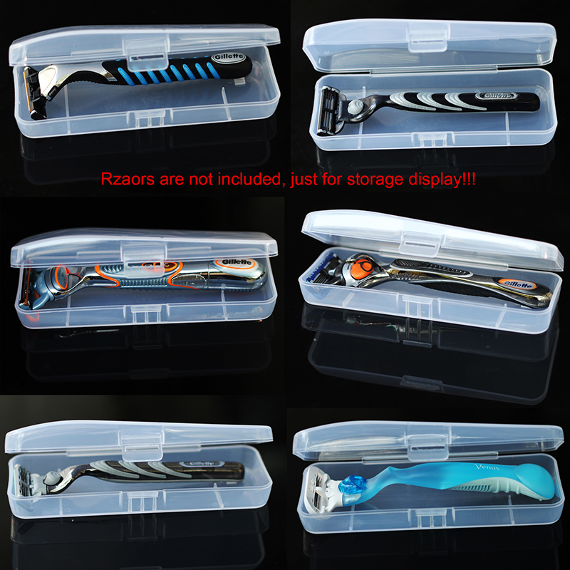 Razor Box Portable Food Grade PVC Waterproof Holder Storage Box For Gillette Razor ( Not Include The Razor )