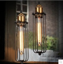 Country Retro Loft Industrial Pendant Light Fixtures Vintage Lamp With Edison Bulbs ,Lamparas Colgantes Handlamp цена 2017