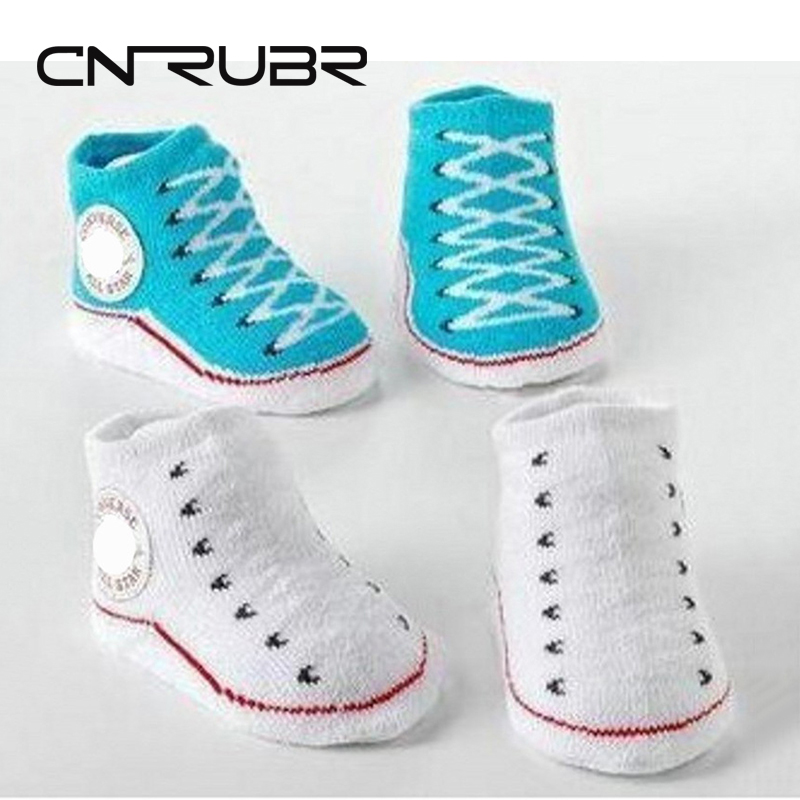 CN-RUBR Baby Socks Rubber Sole Newborn Shoes Infant Boy