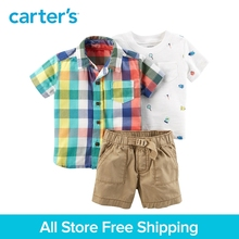 Carter's 3-Piece baby children kids clothing Boy Summer Plaid Outfit Set 127H028