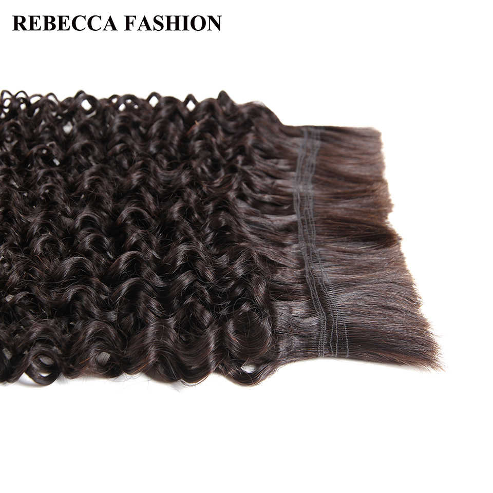 Ребекка бразильского Реми Фигурные массового Человеческие волосы для плетения 4 Связки Бесплатная доставка 10 до 30 дюймов натуральный Цвет волос