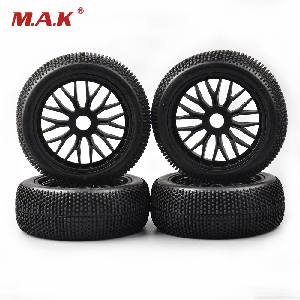 17mm hex 1:8 Off-Road Tires Set Wheel Rim HPI Redcat RC Buggy Car Remote Control Toy Car Vehicles Model Toy Accessorie plastic front rear wheel rim tire for rc car 1 10 buggy off road car hsp himoto hpi traxxas redcat 06008 06101 06024 06102
