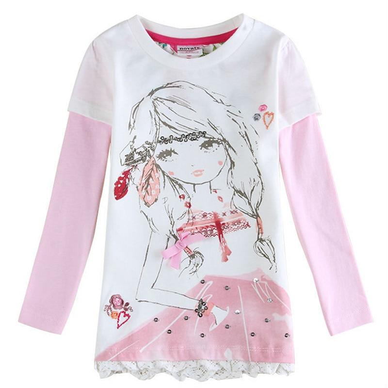 Retail Fashion Baby Girl T Shirt Long Sleeve Kids T Shirts