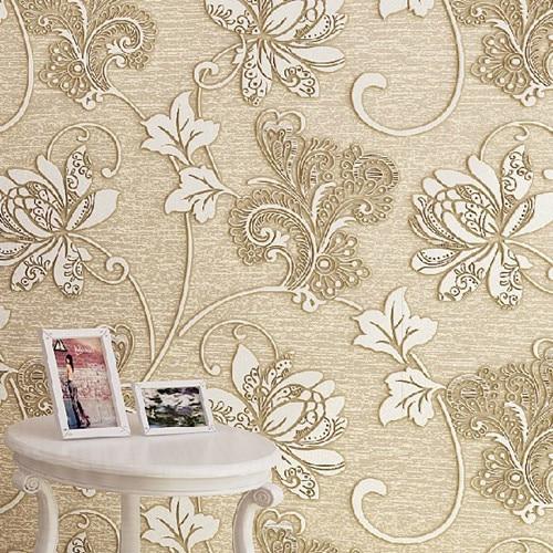 ФОТО  Vintage Europe Floral 3D papel de parede Roll Home Decor Wallpaper DZK51