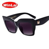 Winla Sunglasses Women Brand Designer Oversized Sun Glasses Eyewear Vintage Fashion Sunglasses Summer Style UV400 Oculos