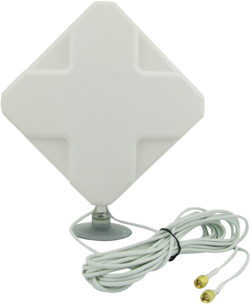 35dBi 3G/4G LTE Long Range Signal Booster Antenna For Mible Hot Spot Wireless Broadband Routers Wifi Devices(SMA Connector)