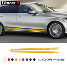 2X Door Side Stripes Decal Stickers for Mercedes Benz C Class 2019 Estate W205 C180 C200 C260 C300 C43 C63 AMG Accessories