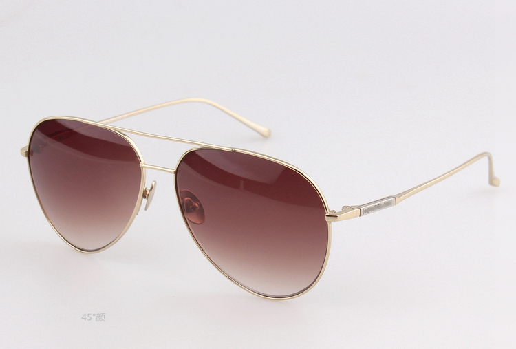 Free shipping Pure titanium ultralight, super light and light claviscopic male 657S ultra cool aviator sunglasses