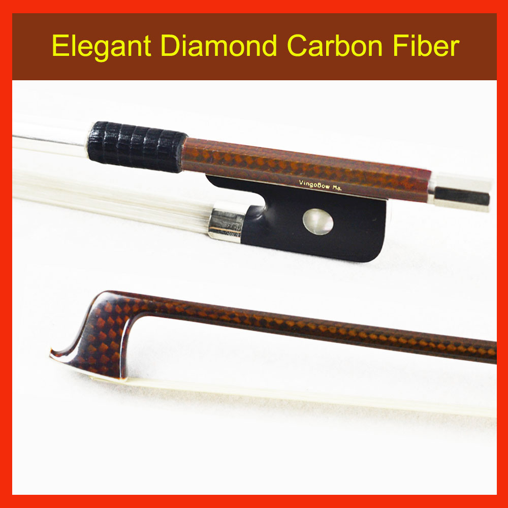140M 4/4 Diamond Carbon Fiber Stick VIOLA BOW Good Quality Ebony Frog and Horsehair Durable Straight Viola Parts Accessories