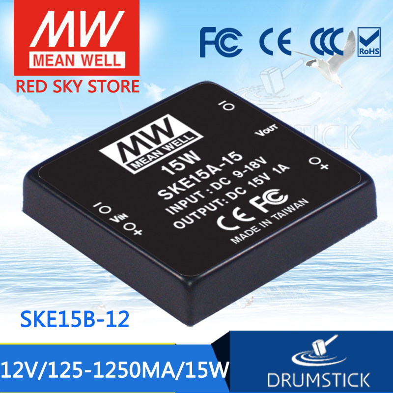 Selling Hot MEAN WELL original SKE15B-12 12V 1250mA meanwell SKE15 12V 15W DC-DC Regulated Single Output Converter advantages mean well ske15c 12 12v 1250ma meanwell ske15 12v 15w dc dc regulated single output converter