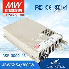 Stały średni dobrze RSP 3000 48 48V 62,5a meanwell RSP 3000 48V 3000W pojedyncza moc wyjściowa