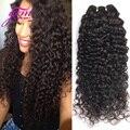 Малайзийский Вьющиеся Волосы Малайзии Глубокая Волна 3 шт. лот Кудрявый Кудрявые Virgin волосы Благодать Яки Человеческих Волос Weave Rosa Продукты Волосы 8-30 1B