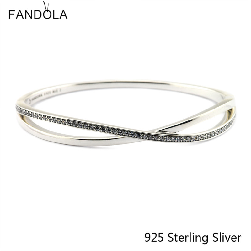 CKK 925 Sterling Silver Entwined Fashion Bangles For Women Original Jewelry Making Anniversary GiftsCKK 925 Sterling Silver Entwined Fashion Bangles For Women Original Jewelry Making Anniversary Gifts