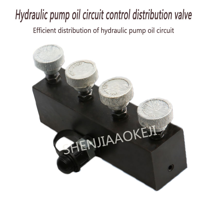 1pc Fast Hydraulic high pressure four-way valve Oil circuit splitter Hydraulic pump oil circuit control distribution valve цена
