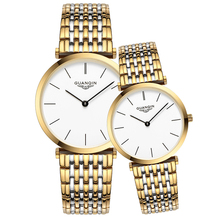 GUANQIN Couple Watch Set Simple Mens Watches Top Brand Luxur
