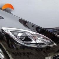 For Mazda 6 2009 2010 2011 2012 Sedan 4 door ABS Chrome Front Lamp Cover Headlight Trim Shells Auto Model Hoods Accessories 2pcs