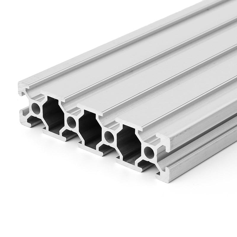 Suleve novo 1 pc 600mm comprimento 2080 liga de alumínio t-slot perfis extrusão quadro trilho linear para peças de impressora cnc 3d para diy