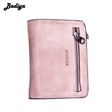 Solid Thin Women's Wallet Matte Pu Leather Sewing Thread Sho