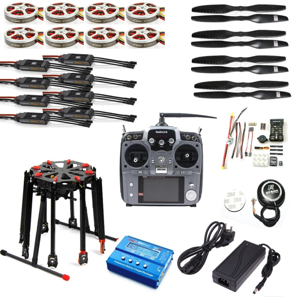 Pro 2.4G 10CH RC 8-Axle Octocopter Drone Tarot X8 Folding PIX PX4 M8N GPS ARF/PNF DIY Unassembly Kit Motor ESC f11270 tarot x8 8 aixs umbrella type folding multicopter uav octocopter drone tl8x000 with retractable landing gear