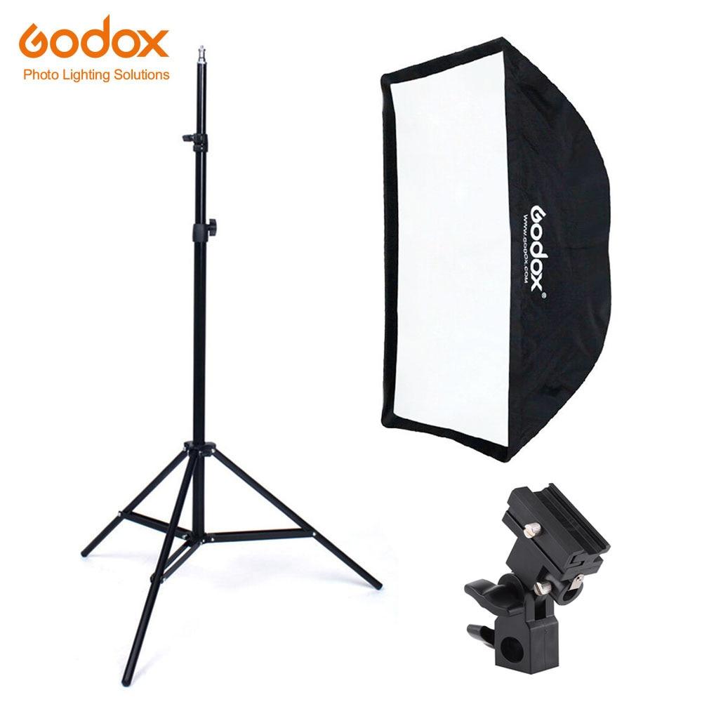 Godox 60x90cm Umbrella Softbox Bracket Light Stand Kit For Strobe Studio Flash Speedlight Photography