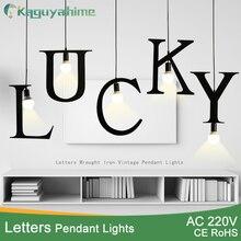 Kaguyahime подвесные светильники E27 DIY письмо свет Творческий A до Z гладить hanglamp 100 светодио дный см Nordic LED Декор лампы для мотоциклов Лофт гостиная