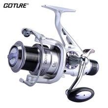 Goture Long Casting Spinning Fishing Reel Metal Spool Double Brake Carp Fishing Wheel Feeder Coil 5.2:1 11BB 5000/6000 Series