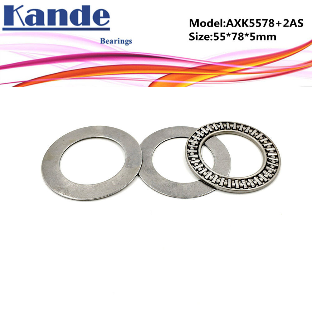 AXK1111 889111 NTB5578 Bearings 55mm x 78mm x 5mm 5 Pcs WUXUN-ZHOU AXK5578 2AS Thrust Needle Roller Bearing with Two AS5578 Washers