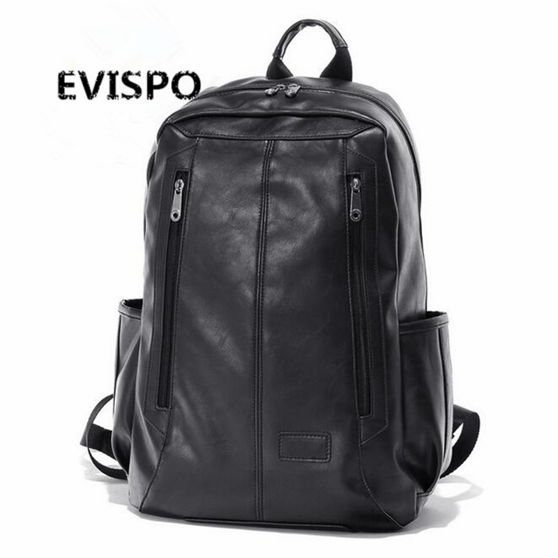 ФОТО 2017 New Arrival Oil Wax PU Leather Backpack For Men Western College Style Bags Men's Casual Backpack & Travel Bags For women