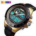 Часы SKMEI Relojes Hombre Zegarki мужские  спортивные  цифровые  водонепроницаемые  с двойным дисплеем