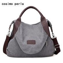 265f1f7d50c3 Ретро Холст Totes Повседневные сумки на плече Crossbody для женщин Сумки  Postman Extra Large Capacity Shopping